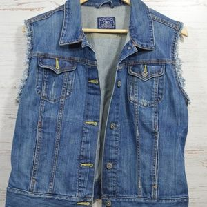 Lucky Brand  Denim Jean Jacket Vest  Size Medium